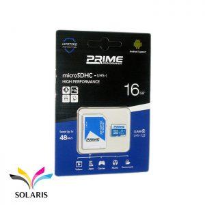 رم Prime microSDHC-UHS-l 16GB 48Mb/s