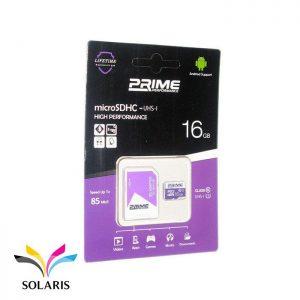 رم Prime microSDHC-UHS-l 16GB 85Mb/s