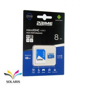 رم Prime microSDHC-UHS-l 8GB 48Mb/s