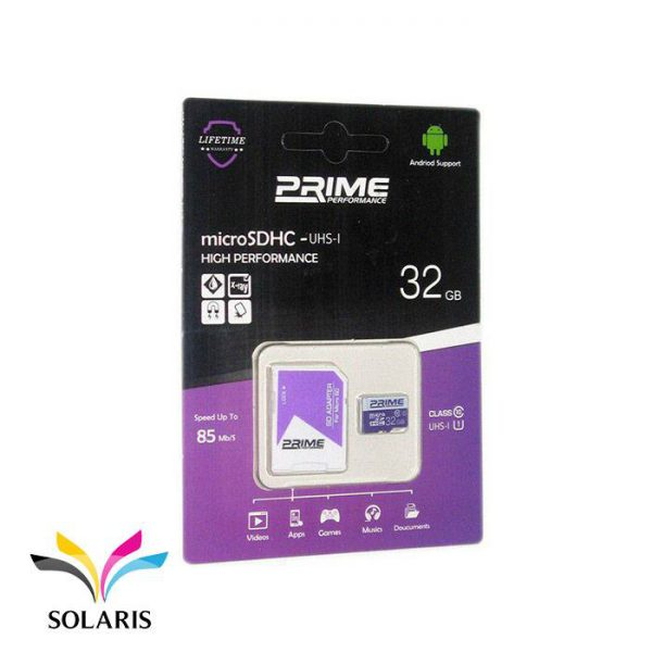 رم Prime microSDHC-UHS-l 32GB 85Mb/s