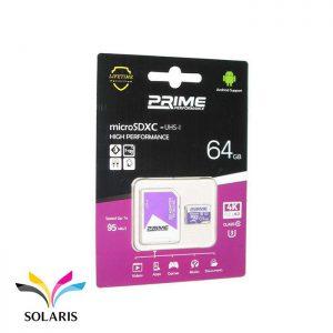رم Prime microSDXC-UHS-l 64GB 95Mb/s
