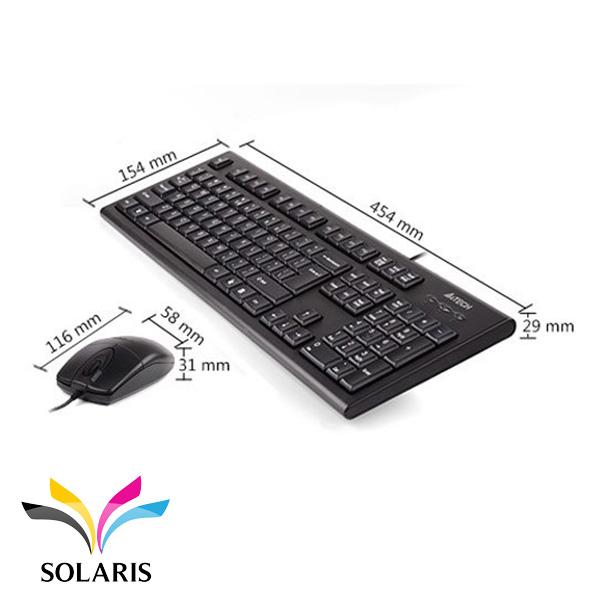 keyboard-mouse-a4tech-8520-size