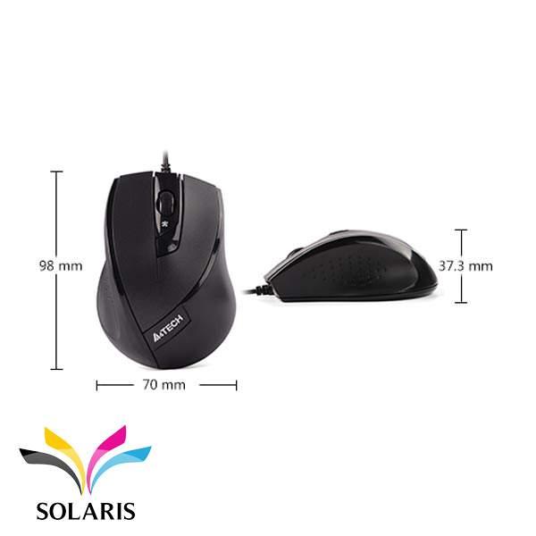 mouse-a4tech-n600-size